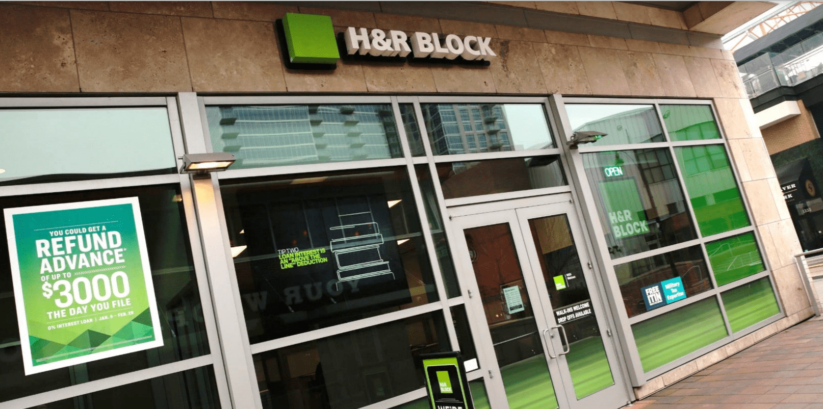 HR Block store front