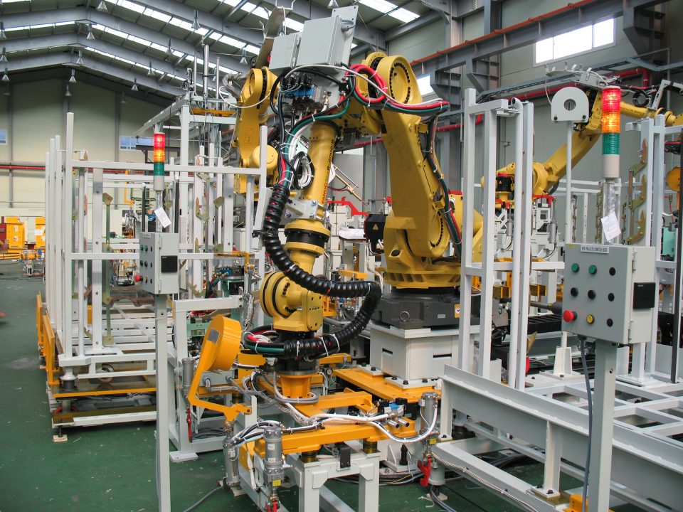 Robot in production line