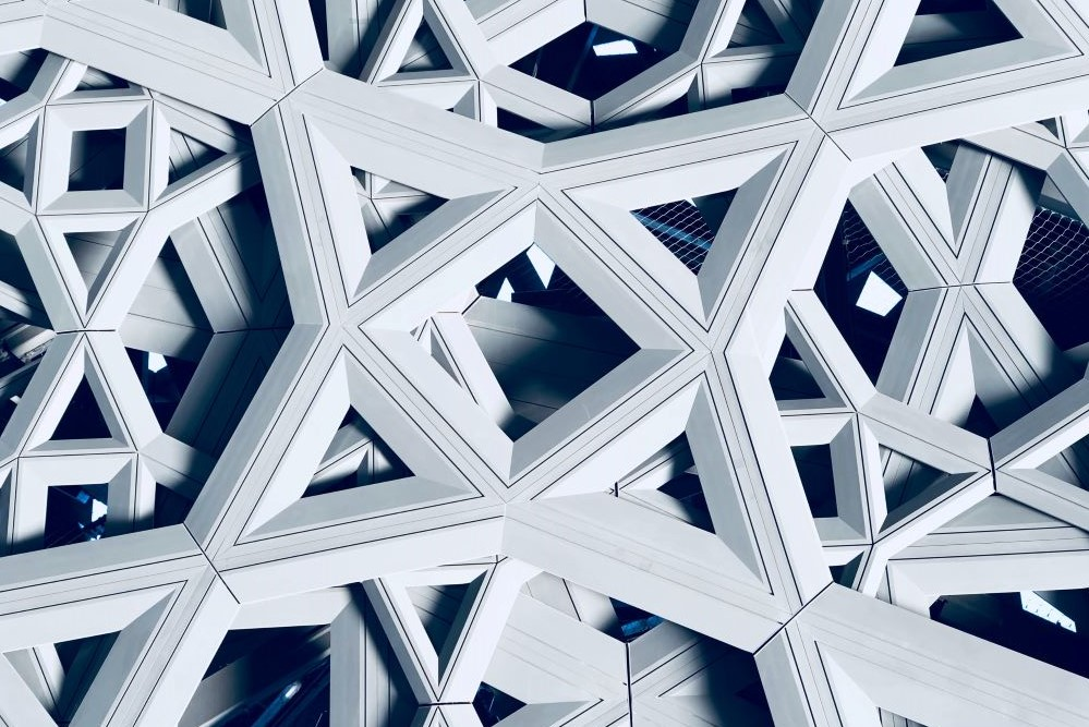 white geometric architecture