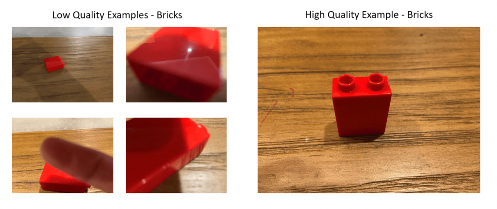 quality comparison of lego blocks for computer vision