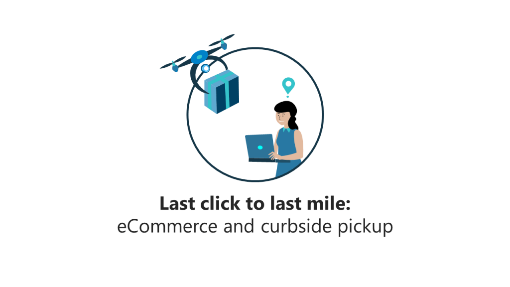 last click to last mile: woman shopping remotely