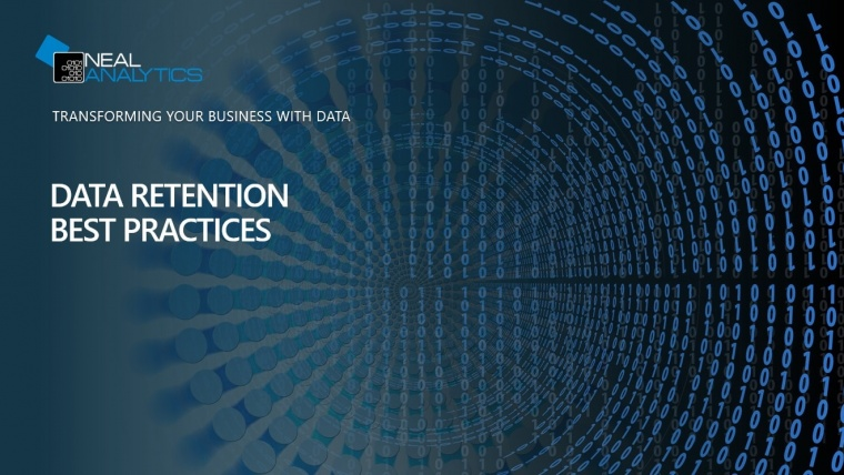 data retention best practices cover with blue binary design