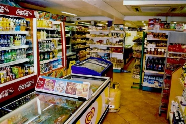 Inside of a convenience store