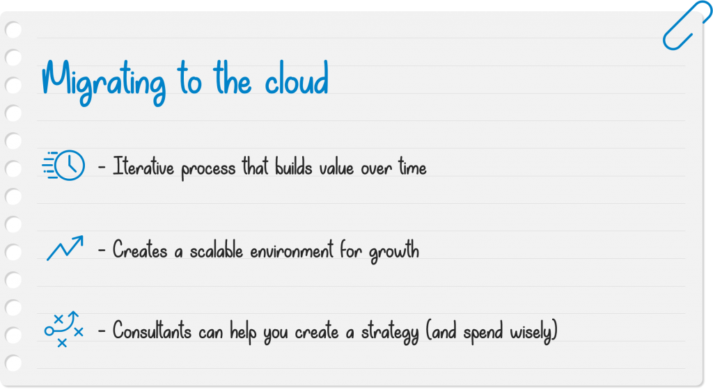 notes on migrating to the cloud