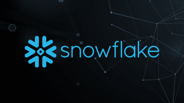 snowflake logo on blue background