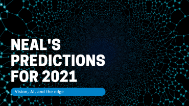 Neal predictions for 2021 with blue data points
