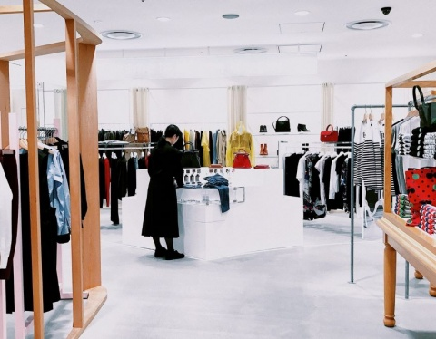 woman browsing in shop
