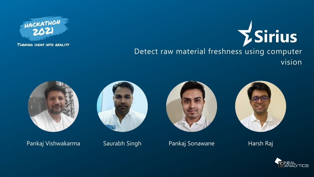 Detect raw material freshness using computer vision