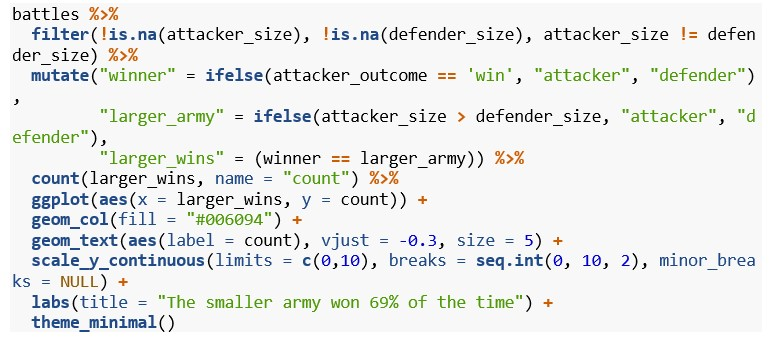 smaller army vs larger army code screenshot example