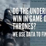 Do underdogs win in the Game of Thrones book series? We use data to find out