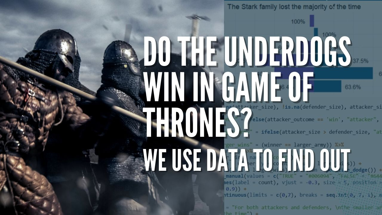 Do the underdogs win in Game of Thrones? We use data to find out - Feature image