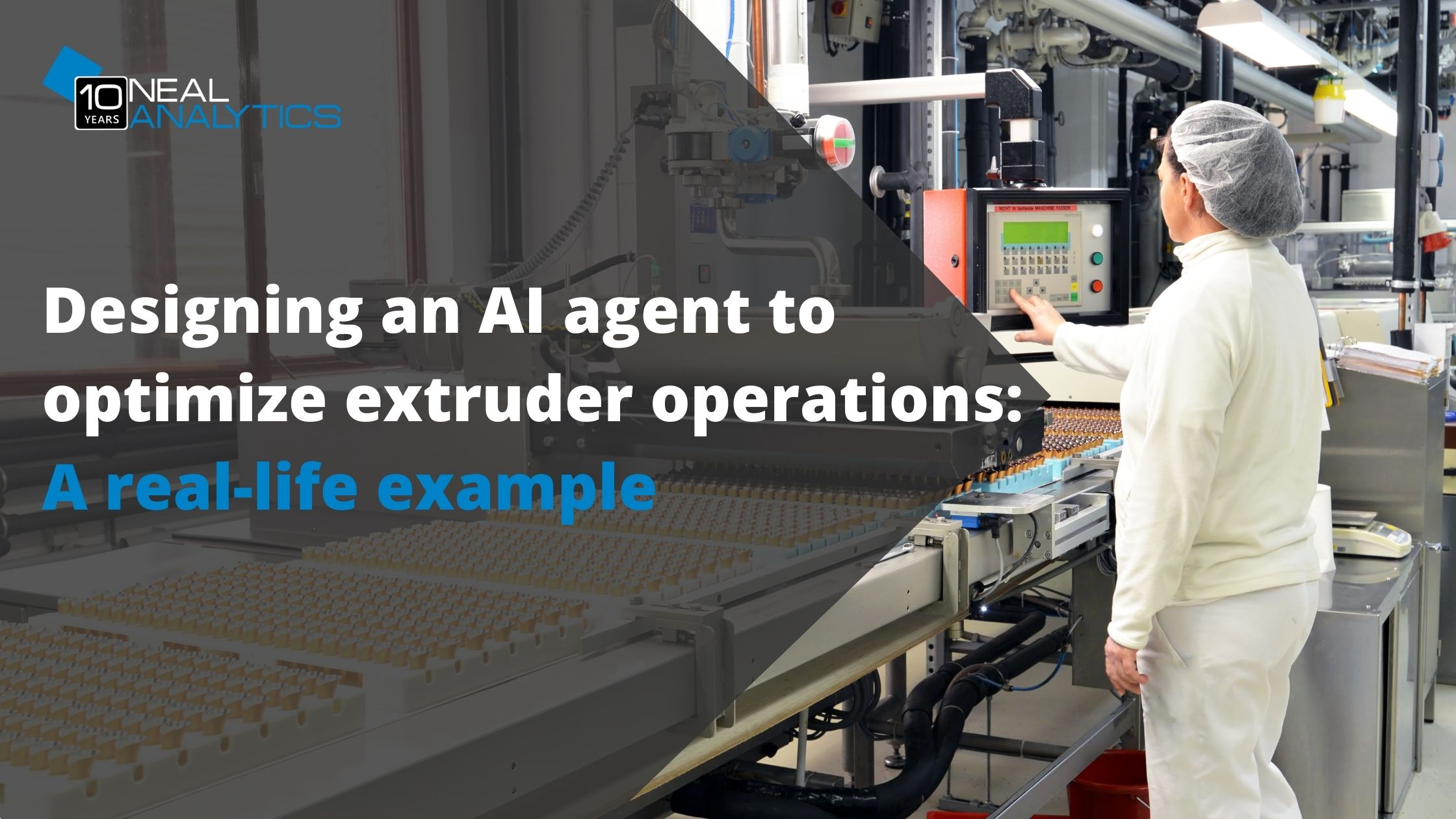 Designing an AI agent to optimize extruder operations: A real-life example