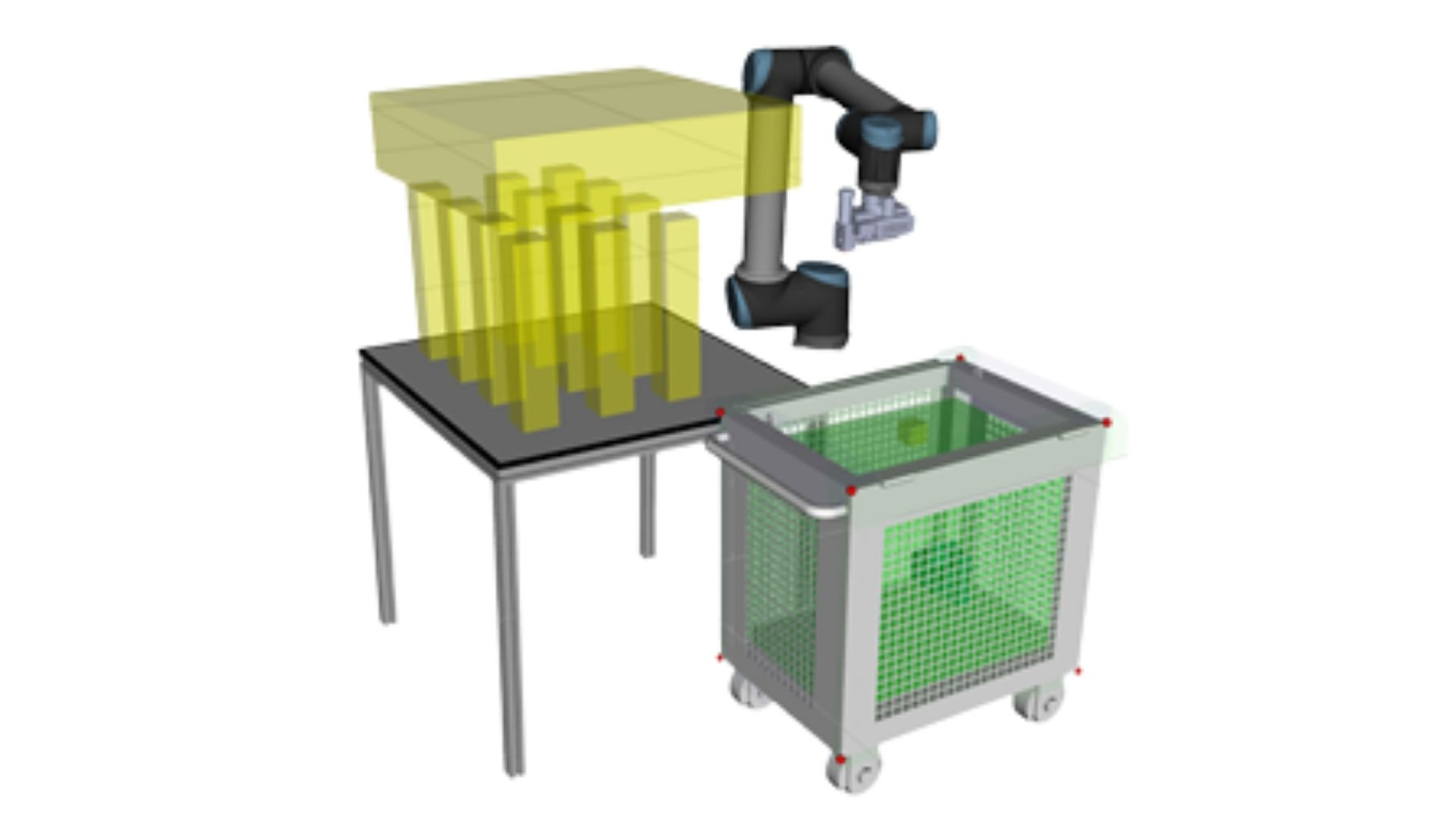 AI controlled robotic arm for coin bags handling using Microsoft Project Bonsai