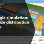 AnyLogic simulation demo: Managing inventory and transportation for distribution centers